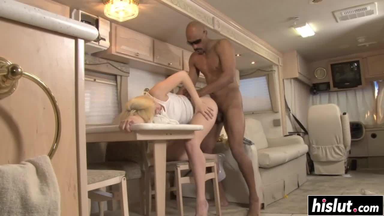 Blonde girl eating his hard BBC