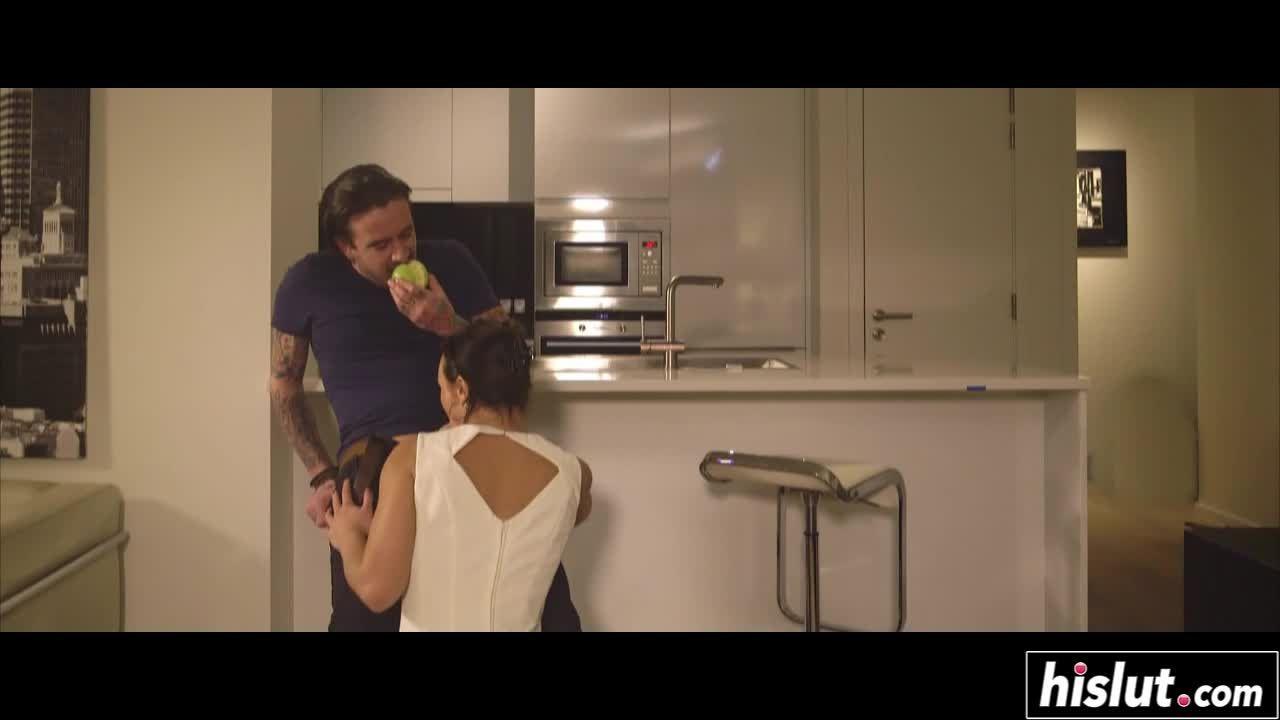 Beautiful brunette gets fucked by her boyfriend
