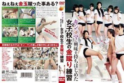 キンタマに興味を持ちはじめた女子校生の金蹴り練習 [NFDM-370]