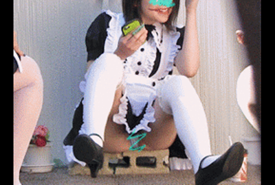 ハロウィン 仮装娘パンチラ