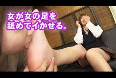 ★★足舐め女登場!★★足裏を舐められてイッちゃうJ○!足裏フェチ!足の指舐め!女が女の足を舐める★★
