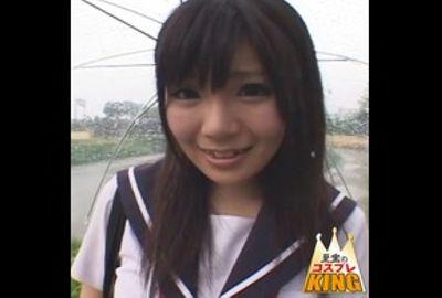 制服美少女がカワイイ笑顔でエッチなことしてくれました。