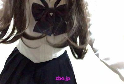 【無料サンプル】セーラー服・制服コスプレの着替え前&着替え後